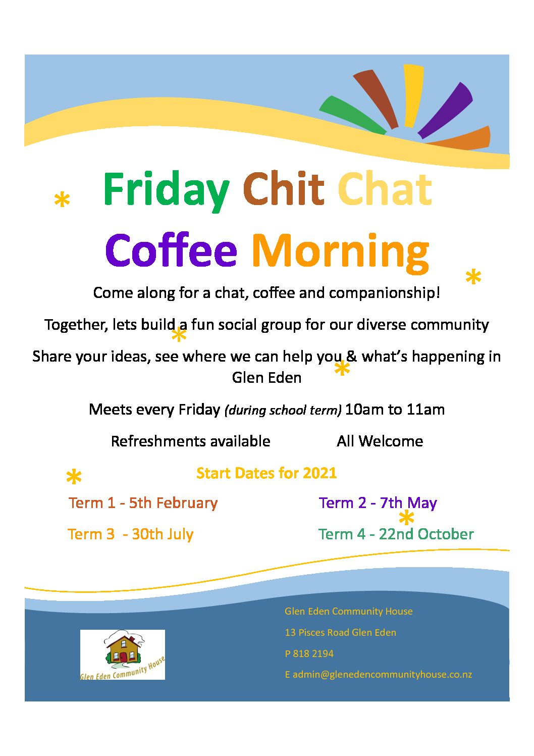 Friday Chit Chat  Coffee Morning